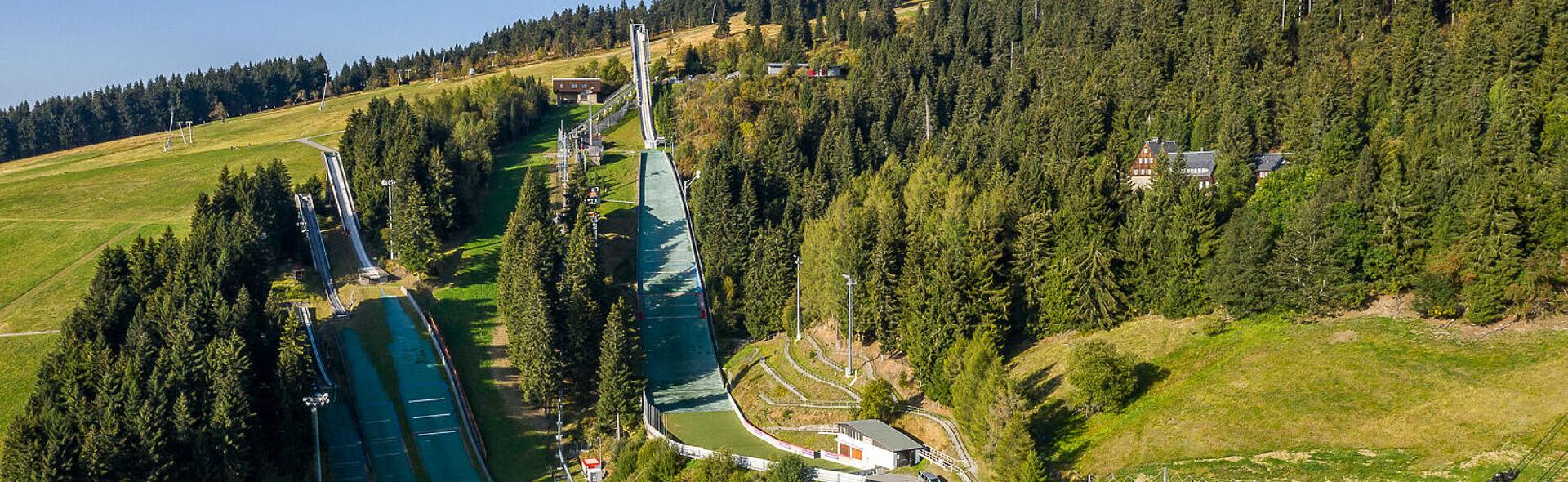 Skispringen Oberwiesenthal Trainingszentrum Skisprung Fichtelbergschanze
