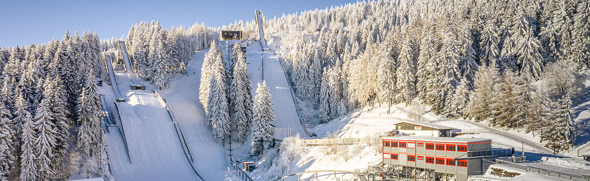 Schanze Oberwiesenthal Trainingszentrum Skisprung Skispringen Fichtelbergschanze Nordische Kombination